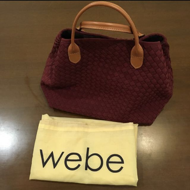 Authentic WEBE Maroon Bag