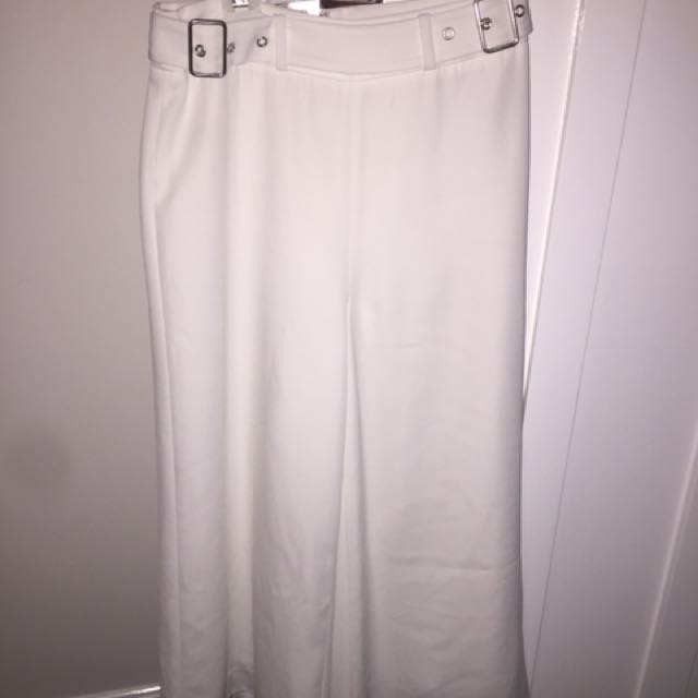 PORTMANS White Belted Culottes