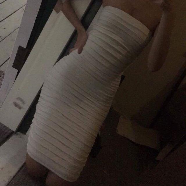 White Strapless Kookai Dress