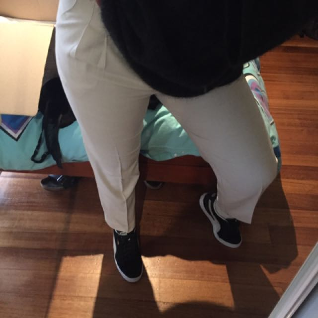 White Vintage Trousers