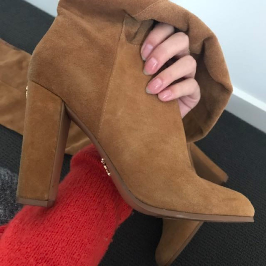 WINDSOR SMITH KNEE HIGH SUEDE BOOTS