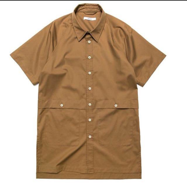 [含運] Wisdom 台牌 長版短袖卡其襯衫 plain