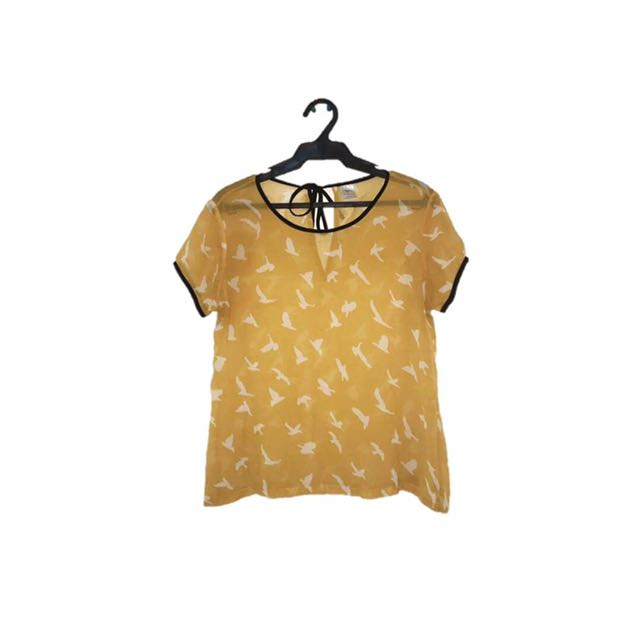 Yellow Short Sleeves Top