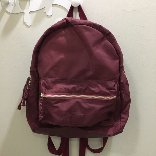 Zara Girls Parachute Backpack - Maroon