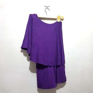 Preloved Purple Venus Cut Romper
