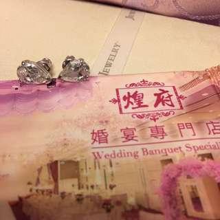 鋯石 鑽石耳環 婚後物資