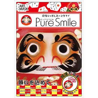 Pure Smile Art Mask - Good Luck Daruma Doll design