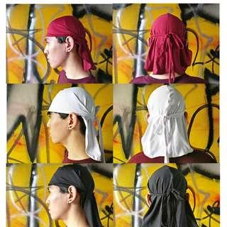 Durag Bandana Ikat Kepala, Original handmade, bahan spandex 100%