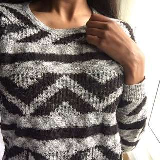 Patterned Forever21 Knit Sweater