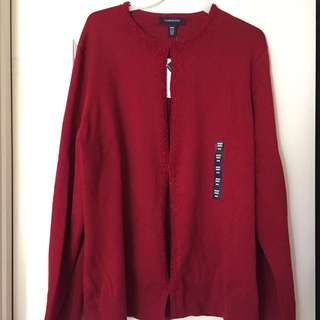 NEW Red Cardigan