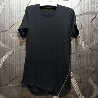 ASOS Super Longline With Asymmetrical Zipper In Black