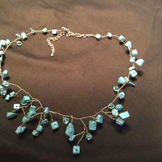 Handmade Wired Turquoise Necklace