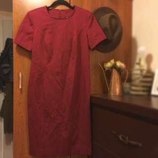 Vintage Looking Red Short Sleeve Dress
