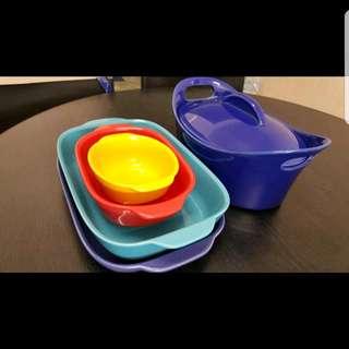 Corningware 4 Pieces + Rachel Ray Casseroval
