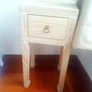 Reclaimed Wood Side Tables Pair