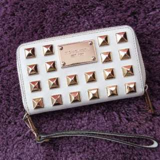 Michael Kors - White Wristlet With Gold Studs
