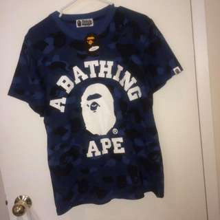 Bape Blue College Tee (Fake)