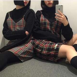 💕韓國官網完售!韓國潮牌Targetto格子裙