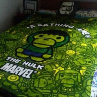 Bape Bathing Ape Hulk And Bape Blankets