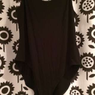 Large Garage Black Bodysuit