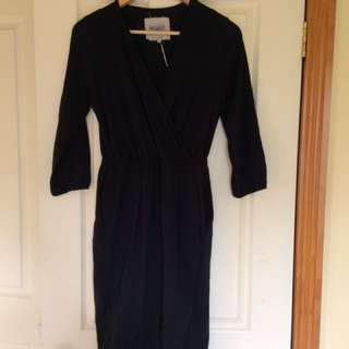 Black Wrap Dress Brand New
