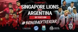 Singapore vs Argentina Ticket (Soccer Match)