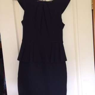 Black Peplum Going Out Dress
