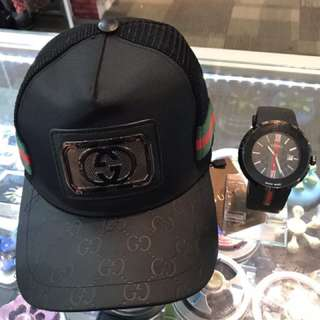 GUCCI WATCH + CAP