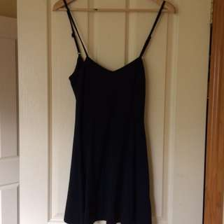 Black Singlet Flowy Dress
