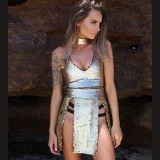 Cocoon Clothing Sequin Festival doof Bralette Crop