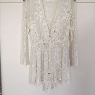Zimmerman Lucia Silk Embroidery Playsuit