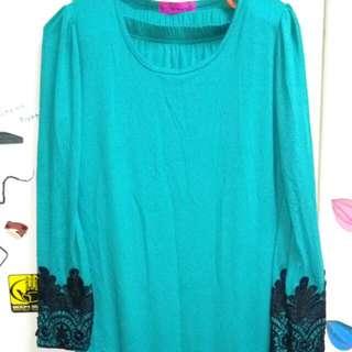 #NYB50 Baju Kurung Turqoise