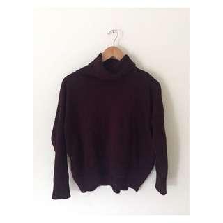 Maroon Turtleneck Sweater | Size 12
