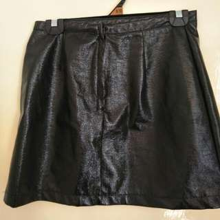 Minkpink Faux Leather Skirt