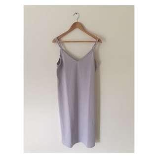 Grey Midi Dress | Size Medium