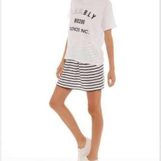 Assembly Black And White Striped Skirt