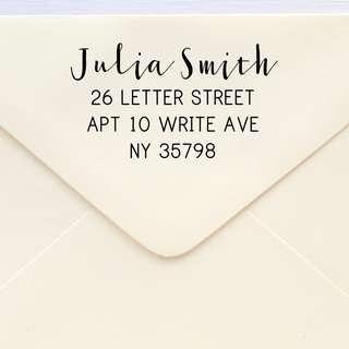 Custom Stamp - Custom Address Stamp - Return Address Stamp - Hand Lettering-Modern Calligraphy