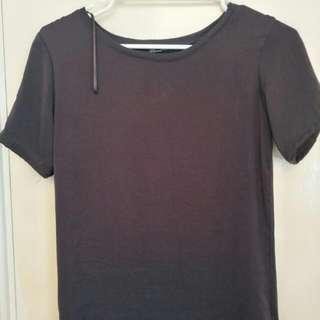 Zara Black Silky Top