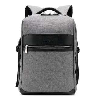 """潮流韓版15"""" 灰色牛津布電腦背囊連USB2.0插座 Fashion 15"""" grey color laptop backpack with USB2.0 plug"""