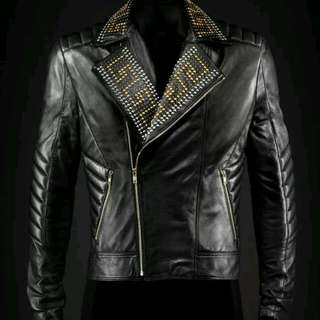 versace leather jacket by h&m