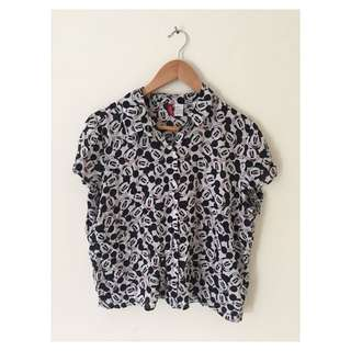 Mickey Mouse Button Up Top | Size 12