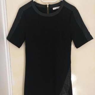 Black Split Hem Dress