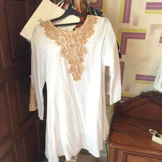 Dress Lebaran semi Kaftan