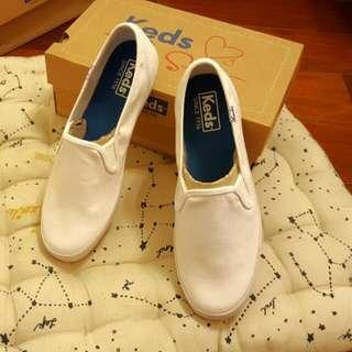 Keds 白色懶人鞋 23.5