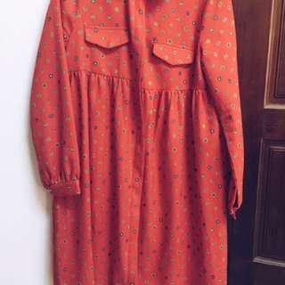 二手正韓大紅連身洋裝