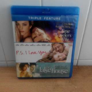 Triple Feature - The Time Traveler's Wife/P. S. I Love You /The Lake House - 3 Blu-ray Discs US Import (original)