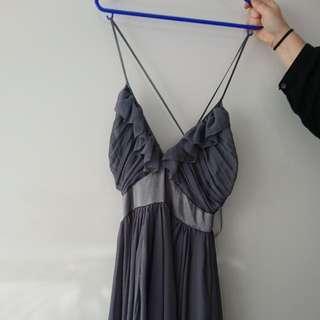 Steel grey cocktail dress