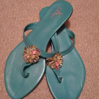 PRICE REDUCED Turquiose Sandals