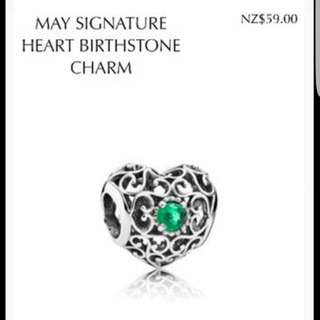 Pandora May Heart Birthstone
