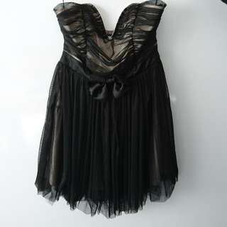 NEW - Never worn strapless babydoll cocktail dress